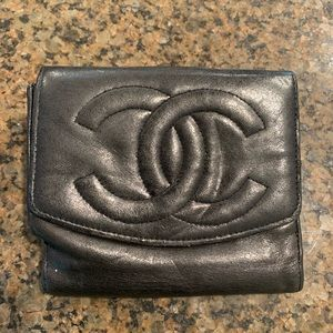 Chanel black wallet